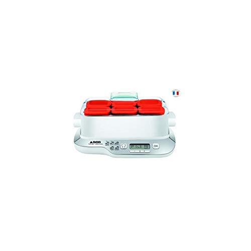 Seb YG660100 Yaourtière Multi Délices Express 6 Pots 600W Rouge et Blanc