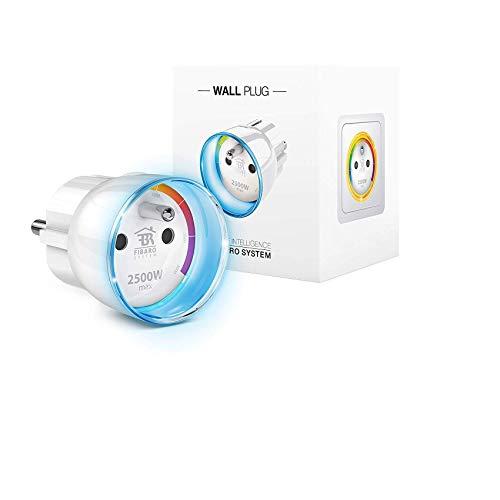Fibaro FGWPE-102 Wall Smart Plug, 230 V, Bianco