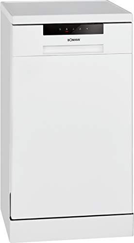 Bomann GSP 7409 Geschirrspüler, Stand/Unterbaufähig, 45 cm, Ausführung, 10 Maßgedecke, 6 Programme, weiß