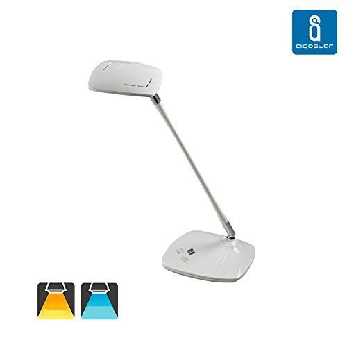 Flexo led de escritorio regulable, color blanco, 5W, ajuste de intensidad y luz con botones t¨¢ctiles. Luz blanca y c¨¢lida' / Amazon: 'Aigostar 182038 - Lámpara de diseño tipo palo de golf en color blanco de 5w, táctil, diferentes intensidades y regulable