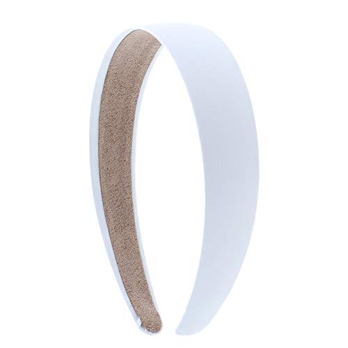 1 Satin Headband -White