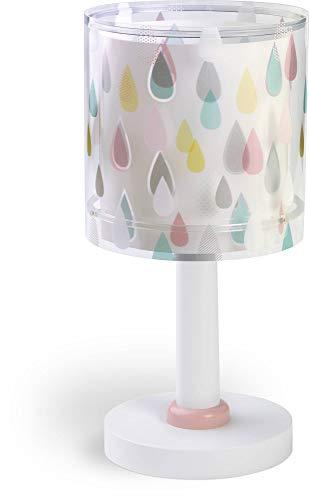 Dalber Lámpara de Mesilla Infantil Color Rain E14, Multicolor, 1