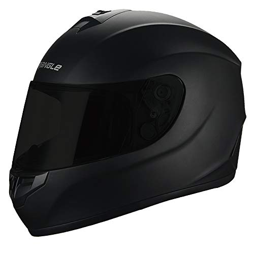 "Triangle Motorcycle Helmets Full Face ""Graffiti Cross"" Street Bike [DOT] (Large, Matte Black)"