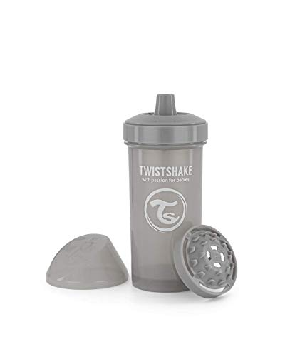 Twistshake Kid Cup 360ml/ 12 oz 12+M pastello grigio