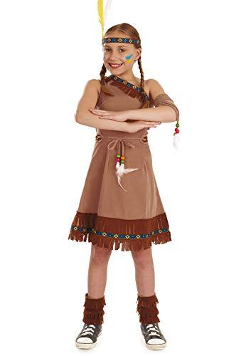 Fun Shack Déguisement pour Enfant Costume Amérindien Marron pour Fille - Taille S