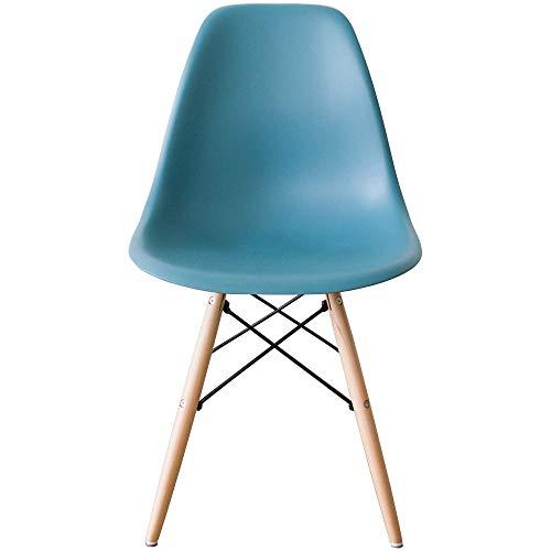 アイリスプラザ イームズチェア ダイニングチェア 椅子 北欧 おしゃれ 木脚 PP-623 モスグリーン 幅46.5×奥行54×高さ82