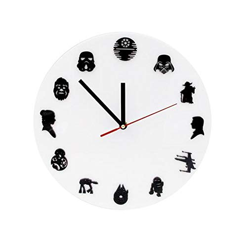 yaoyao Wandklok Movie Personages Silhouette Wandklok Woonkamer Decoratieve Icon Rollen Klok Wandhorloge Home Decor Moive Fans Gift Office Home Decor Gift