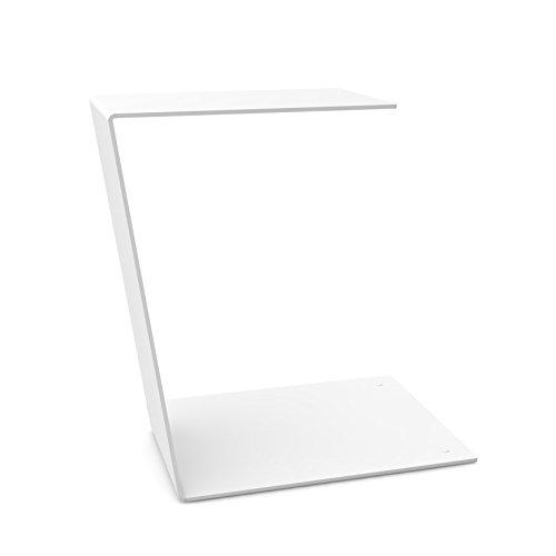 """home3000 Design Beistelltisch """"C-Table"""" schlicht und klar in weiß aus Metall"""