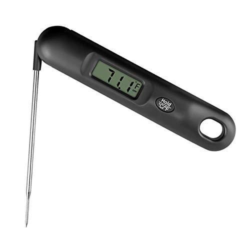 Fenteer Termómetro de carne para cocinar, termómetro Digital de comida de precisión rápida con retroiluminación pantalla LCD de lectura instantánea-50 a 300 - Negro