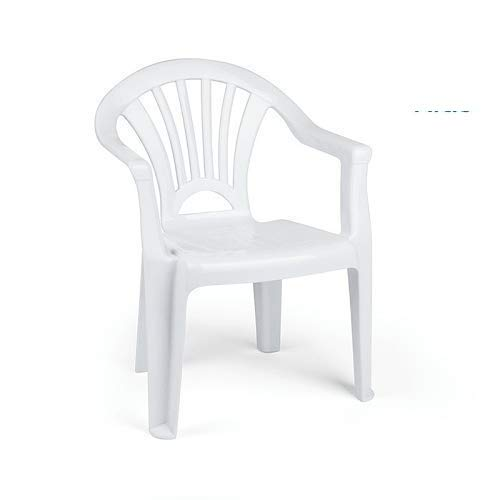 CABLEPELADO Silla Infantil plastico (Blanca)