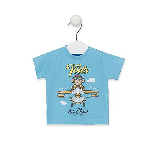 TOUS BABY - Camiseta Manga Corta para Niño, con estampación Air Shou. (1 Mes a 4 Años)