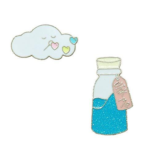Botella de agua Brooch Esamel Lapel Pin regalos creativos para hombres y...