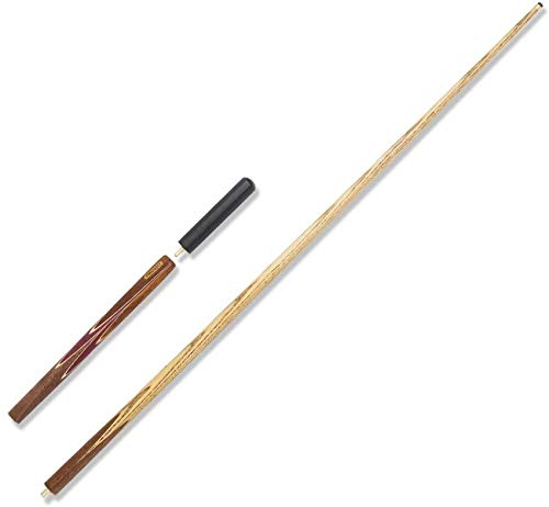 WEHOLY Pool Cues, 57 Inch Three-Quarters Joint Black Eight Plus Three-Piece British Snooker Billiards 9.5mm Tip Pool Cue