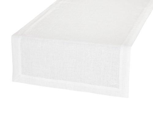 BLANC CERISE Vis-à-vis Blanc - Lin déperlant - uni, brodé 140 cm