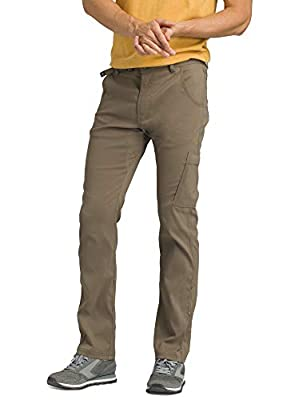 "prAna - Men's Stretch Zion Lightweight, Durable, Water Repellent Pants for Hiking and Everyday Wear, Straight, 32"" Inseam, Mud, 32"