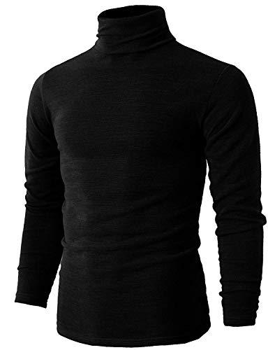 Romanstii Herren Strickpullover Stehkragen Turtleneck Sweater Slim Fit Rollkragen Pullover Warme Strickpullover