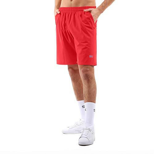 SPORTKIND - Pantalones Cortos Largos de Tenis para Hombre y niño, Todo el año, Color Rojo, tamaño 158