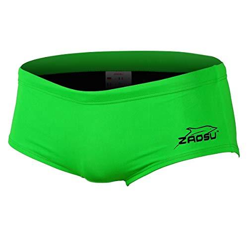 ZAOSU Herren und Jungen Schwimmhose Essential Neon-Flash | Sport Badehose für das Schwimm Training, Farbe:neongrün, Größe:164