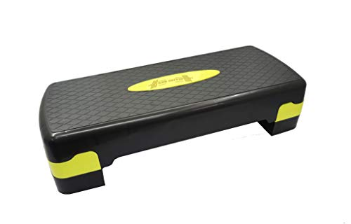 ABB INITIO GYM Polypropylene Adjustable Home Gym Exercise Fitness Stepper for Exercise Aerobics Stepper (Black & Yellow)