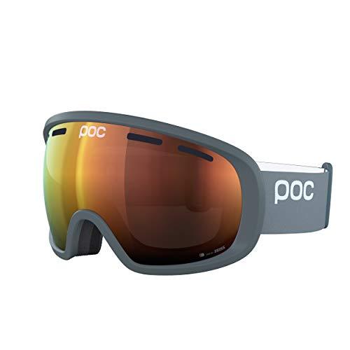 POC Unisex-Adult Fovea Clarity Skibrille, Pegasi Grey/Spektris Orange, ONE