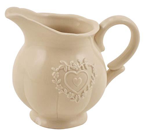 DISRAELI Lattiera in Ceramica con Cuore 13x9,3x11cm