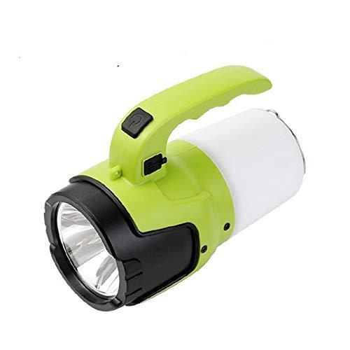 JSJJAUA Faroles de Mano Potente Linterna Que acampa de múltiples Funciones Portable LED Reflector Caza Ligera Impermeable Linterna Batería incorporada (Emitting Color : Package B)