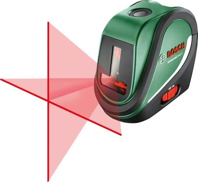 Bosch Kreuzlinienlaser UniversalLevel 2 (3x AA Batterien, Softbag, Arbeitsbereich: 10 m, Selbstnivellierungszeit: >4 s, Betriebsdauer: 5 h)