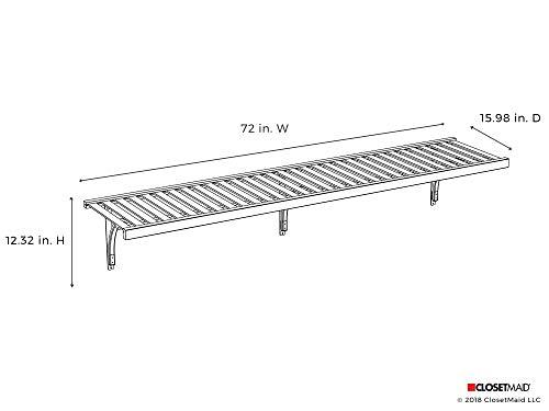 ClosetMaid 1418 Premium Wood Ventilated Shelf Kit, 6-Foot X 16-Inch, White