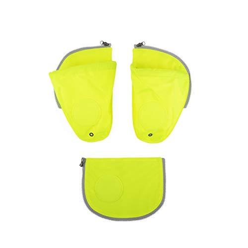 ergobag pack Seitentaschen Zip-Set - Seitentaschen-Set, 3-teilig - Gelb - Gelb