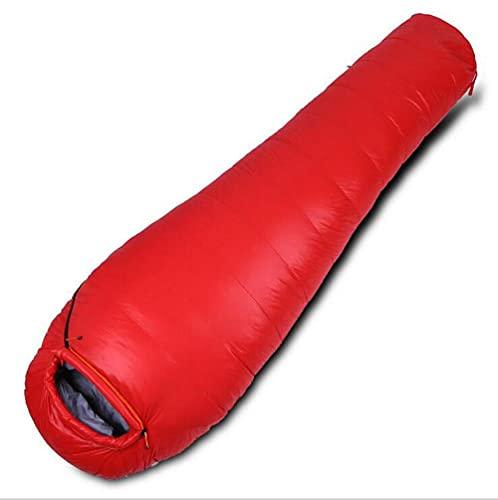 N/Z Inicio Equipamiento Plumón de Pato Blanco Sacos de Dormir de plumón Profesional para Acampar al Aire Libre Sacos de Dormir de Viaje de Ocio Rojo