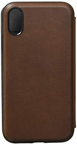 Nomad Rugged Folio for iPhone XR | Rustic Brown Horween Leather