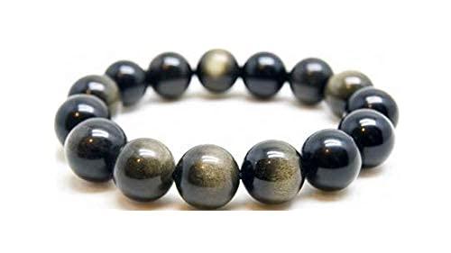 El brazalete Obsidiana dorada protección piedra Perle es de 8