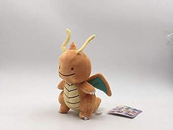 Stuffed.Animals 6 Styles Hot Toys Peluche Ditto Lapras Dragonite Pikachu Squirtle Bulbasaur Charmander 12-16cm Plush Doll Pokemon Pikachu-Kuai Long-15cm with Tag-15cm with Tag