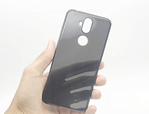 Kit Capa E Película Para Asus Zenfone 5 Selfie E Selfie Pro Zc600kl Capinha Transparente Clear Ultra Fina e Película De Gel Silicone Flexível - Danet (Fumê - Preta)