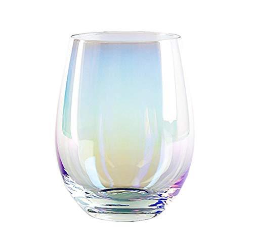 Kleurrijke loodvrije kristallen glazen Mousse Dessert Cup drinken sap melk Cup bier mok voor feesten, bruiloften, bemonstering, proeven 2PC F