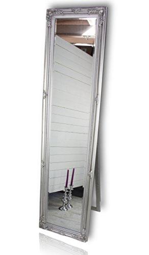 elbmöbel Standspiegel groß antik Spiegel mit Fuß Badspiegel Schminkspiegel Frisierspiegel...
