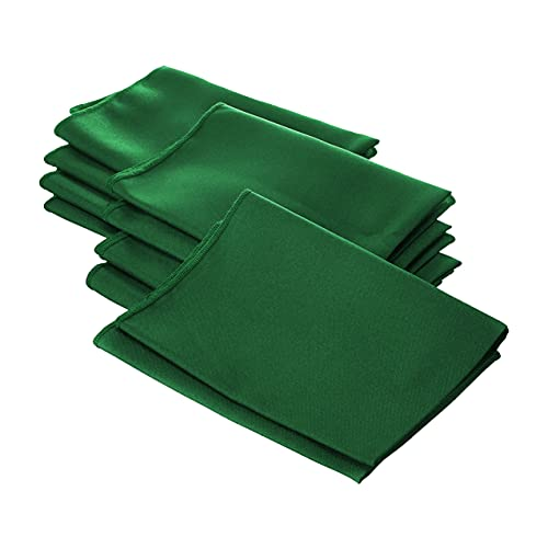 LA Linen 10-Pack Polyester Poplin Napkins, 18 by 18-Inch, Emerald Green