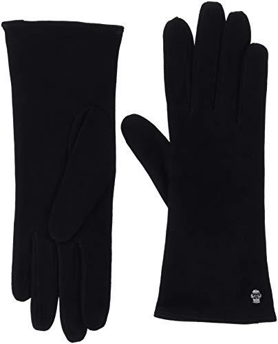 Roeckl Damen Edelklassiker Velours Handschuhe, Schwarz (Black 000), 7.5 (Herstellergröße: 7, 5)