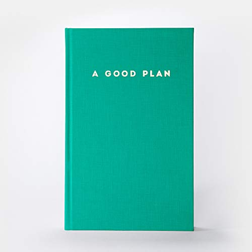 A Good Plan   ganzheitlicher Kalender für mehr Achtsamkeit und Selbstliebe   undatiertes Tagebuch und Planer smaragdgrün
