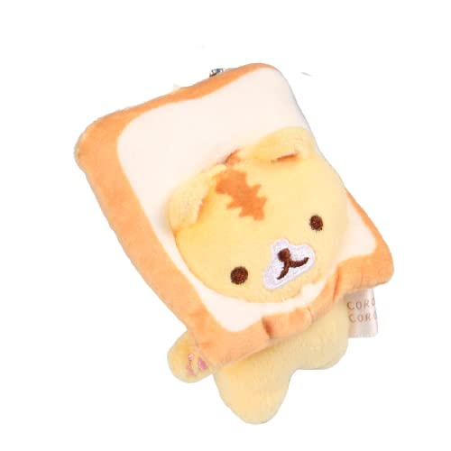 letaowl Schlüsselanhänger Japanisches Brot Katze Toast Katze Plüsch Puppe Kleine Anhänger Puppe Kleine Gelbe Katzentasche Hängende Ornamente