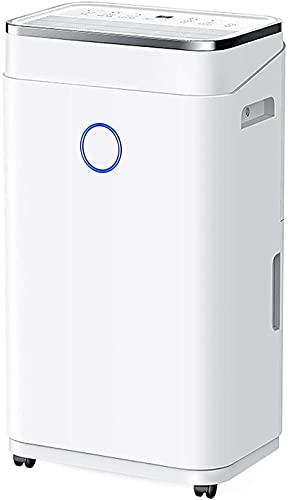 Deumidificatore Mobile deumidificazione 6L Serbatoio Acqua Capacità Bambino Blocco Protezione Può Scolare Continuamente per Scantinati e Funzionamento Silenzioso