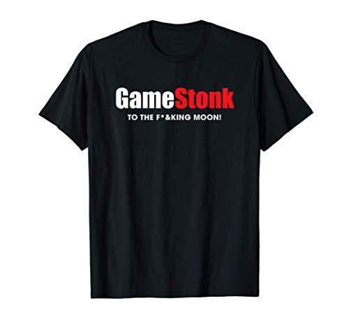 Gamestonk to the F'ing Moon Gamestick Stop Game Stonk GME T-Shirt