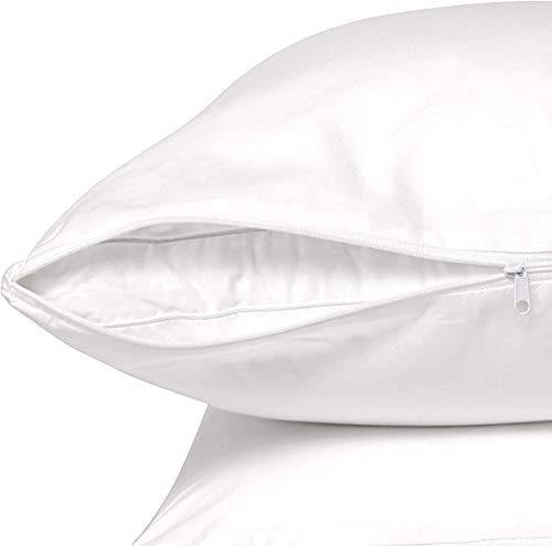 CIRCLESHOME Standard Pillow Protectors 100% Cotton, Quality Materials & Breathable Pillow Covers, Machine Washable (Standard - Set of 2-20x26)