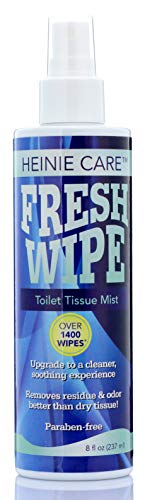 Fresh Wipe Toilet Tissue Spray- Instantly Turn Your Toilet Paper into a Wipe. Don't Clog Toilets. Use Less Toilet Paper! 1400 Sprays per Bottle. (8oz)
