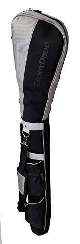 CaddyDaddy Golf Ranger Carry Sunday Range Travel Bag, Black/Silver