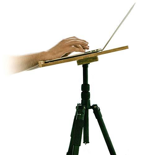 Notadesk El trípode es un pequeño escritorio de pie ajustable en altura para su ordenador portátil y oficina en casa - mesa móvil - soporte de podio