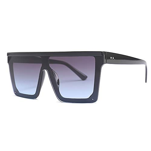 ERIOG Gafas de Sol de Hombres y Mujer Clásico Retro Gafas Fashion Punk Sunglasses Personalizadas Lentes cuadradas Motocicleta Conducción