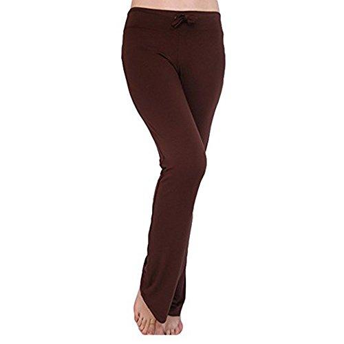Hellomiko Frauen Sweatpants Normallack Sport-Hosen-weiche mittlere Taillen-beiläufige Hosen elastische Fitness-Yoga-Hosen mit Kordelzug modern und Mode