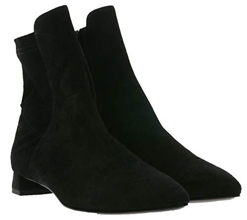 AGL Attilio Giusti Stiefeletten Klassische Damen Ausgeh-Schuhe aus feinstem Echtleder Büro-Schuhe Spitze Schuhe Schwarz, Größe:36