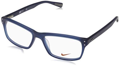 Nike Herren 7242 440 53 Brillengestelle, Blau (Matte Space Bluee)